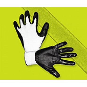 Перчатки ПОЛИЭСТРОВЫЕ с нитриловым покрытием на манжете