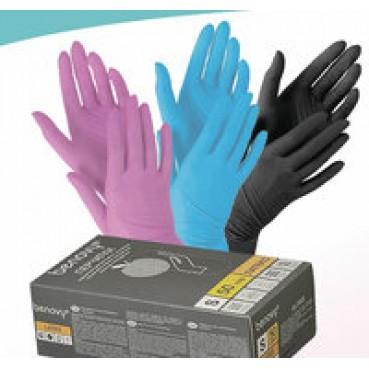 Перчатки нитриловые универсальные.