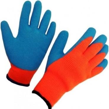 Перчатки  акриловые утепленные с рифленным покрытием (стекольщика)