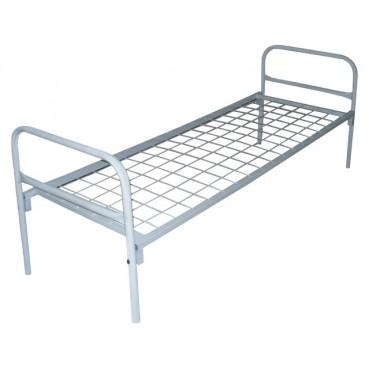 Кровать металлическая одноярусная УСИЛЕННАЯ